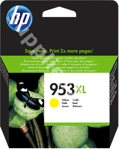HP Nr.953XL Patrone F6U18AE Yellow (1.6k)
